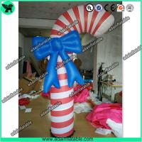 Quality Christmas Decoration Inflatable Candy With LED Light For Kids Events for sale