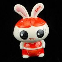 Quality Rabbit Money Box, Made of Non-phthalate and Environment-friendly Resin Material, OEM Orders Accepted for sale