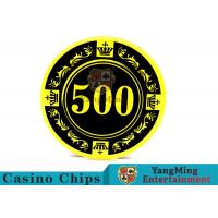 12g Colorful Casino Quality Poker Chips With Crown Screen Convenient To Carry