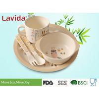 Quality Reusable Bamboo Childrens Dinner Set Durable Non - Fragile Formaldehyde Free for sale