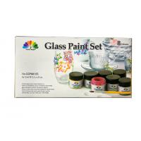 Quality Non - Toxic Art Painting Colours 8 Pcs Glass Paint Set 8X15ml 20 Light Fast Colours for sale