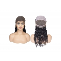 Quality 10A Grade #1B natural black deep curly texture glueless full lace wigs human hair for sale