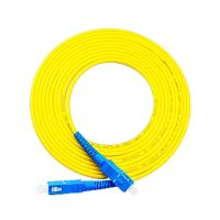 China Armoured Optical Fiber Patch Cord Leads Sc-Sc Simplex Yellow Color on sale