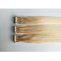 Buy cheap 50g Remy human hair extensions #613 color 14inches 6D hair extensions from wholesalers