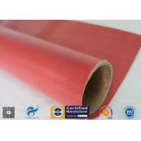 Buy cheap Furnace Curtain 0.45mm 40/40g 1000mm Red Silicone Rubber Coated Fiberglass from wholesalers