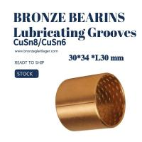 Buy cheap Tin Bronze Sleeve Bushing BRM 30 - 34 L30 with Lubricating Grooves FB090 from wholesalers