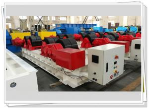 Quality Rubber Tyre Fixed Turning Roller Bed 60t Tank Vessel Conventional Welding Rotator for sale