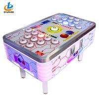 Multi Players White Lottery Game Machine Smart Ticket Outlet Colorful LED Lights