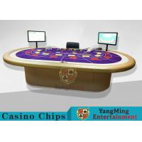 Quality Casino Clay Poker Chips / Ceramic Poker Chips Table With Poker Barcode Scanner for sale