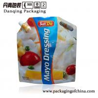 Quality Plastic Sauce Packaging     Doy Packs     Corner Spout Bag Screwed With Cap for sale