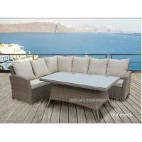 Quality Aluminium Metal Garden Patio Seating Sets Rattan Wicker Furniture UV Resistance for sale