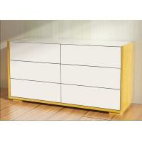 Quality 1.1 Meters Length High Gloss Bedroom Furniture 6 Drawer Chest /Dresser With E1 Board for sale