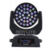 Quality RGBW Multi Color LED Wash Moving Head , 36 x 10w Beam Angle 30° Show Pro Lights for sale