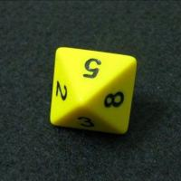 Quality Eco-friendly resin material 8sides dice with number logo  for sale