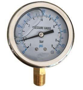 Quality Iron Alloy Marine Oil Filled Marine Industrial Pressure Gauge EN837-1 YN-100 for sale