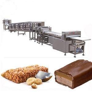 China Semi Automatic Energy Bar Making Machine , Chocolate Bar Manufacturing Equipment on sale