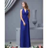 China Cheap Deep V Neck Royal Blue A Line Multi Colored Bridesmaid Dresses Online Shop on sale