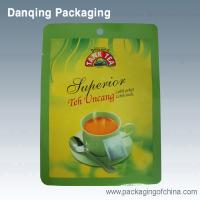 Quality Tea Packaging Pouches, 3 Side Seal Bag , Laminated Food Packaging Pouches for sale