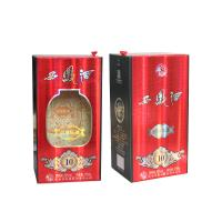 Quality Special Paper Liqueur And Wine Gift Box Cardboard Paper Lid Hinge Base Box for sale
