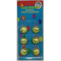 kids smile face round candle