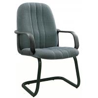 Quality Non Rolling Gey Fabric Office Chairs For Meeting Room Tube 1.0 Foot for sale