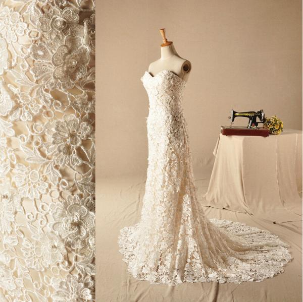 Full lace flower heart neckline wedding dresses unique for Unusual wedding dresses for sale