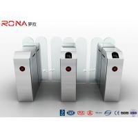 China Weatherproof High Security Glass Sliding Turnstile Barrier Gate With Card Reader on sale