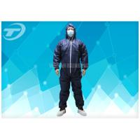 Quality Waterresistance Elastic Cuffs Disposable Coverall Suit PE Coated PP Fabric for sale