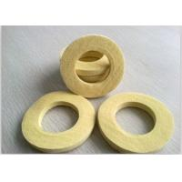 Quality Industrial Sealing Felt  Needle Punched Kevlar Ring Used As Seal Ring Pad Yellow for sale
