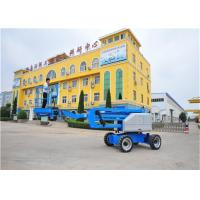 Quality 12V DC Towable Boom Lift Knuckle Boom Lift 360º Continuous Turntable Rotation for sale