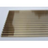 China Color Bronze 6mm / 8mm Double Wall Polycarbonate Greenhouse Panels Multi Purpose on sale