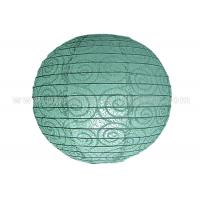 Eyelet Lace Look  Round Paper Lanterns with lights For Party Decoration , Wedding
