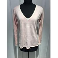 Long Sleeve Deep V Neck Cashmere Sweater For Adults 2/60 Yarn Count