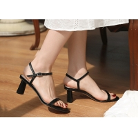 China Anti Slip Rubber Sole 6CM Height Heeled Womens Shoes on sale