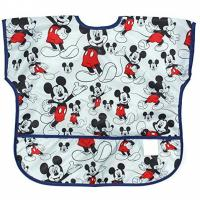 China Disney Mickey Mouse Junior Bibs , Short Sleeve Bib / Smock For 1-3 Years on sale