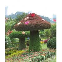 Quality Green Artificial Grass Sculpture Plastic Plant Topiary Sculpture  Mushroom Sculpture for sale