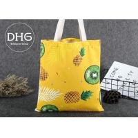 China Promotional Colored Screen Printed Canvas Bags Soft Damp Proof Brearhable on sale