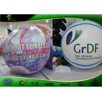 Quality Purple Helium Flying Inflatable Advertising Balloons With Logo Printing for sale