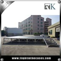 Buy cheap Cheap 1.22x1.22m wooden assembly movable aluminum stage outdoor stage four legs stage from Wholesalers