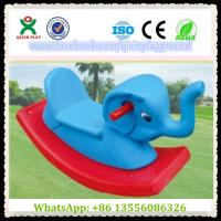 Quality Fun Plastic Elephant Shape Build-Up Rocking Horse Games Horse for Park Items QX-155F for sale
