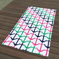 Quality Colorful Anchor Beach Towel / Printed Beach Towels Excellent Water Absoption for sale