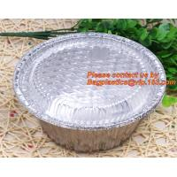 Quality disposable food packaging aluminum foil container, tray, box Customised food Aluminum Foil, bakery box, bakery container for sale