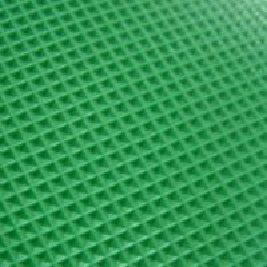 Green pvc conveyor belt diamond profile