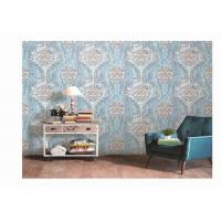 Buy Washable PVC Vinyl Wallpaper Damask  Design Classic For Living Room at wholesale prices