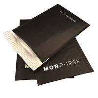 Buy cheap Black Self Sealing Kraft Bubble Mailer Padded Envelope With Logo from Wholesalers