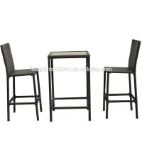 Buy High Quality Wicker Garden Outdoor Furniture Rattan Dining Table Set Bistro Set at wholesale prices