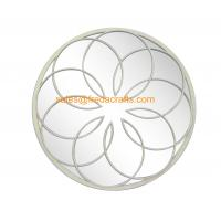 Quality Quality Ensured Metal Flower Decorated Silver Finish Home Decor Wall Mirror for sale