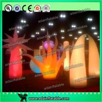Quality Party Decoration Inflatable Lighting Cone Full Dot Printing Wave Shape Design for sale