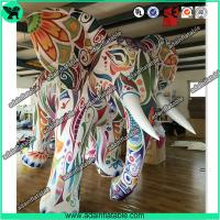 Quality Large Colorful Inflatable Elephant / Outdoor Advertising Balloon For Big Event for sale