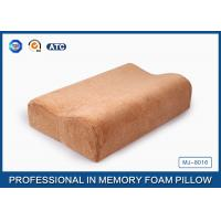 Buy cheap 2 Way Antimicrobial Sponge Memory Foam Contour Pillow , Knitted Velour Cover from Wholesalers